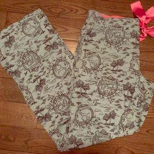 Pink Cotton pajama pants